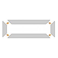 KP1/1M9 36 mm podlahový ochranný profil do priestoru