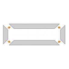 KP1 na mieru - podlahový ochranný profil do priestoru