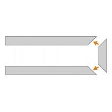 KP2/1M6 36 mm podlahový ochranný profil k stene