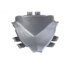 Roh vnútorný 90° zvislý L15/C/s/st - matná strieborná