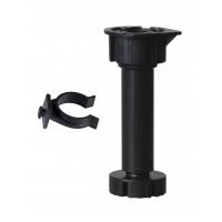 S100/120/150/n/3 - rektifikačná noha trojdielna + otočný klip